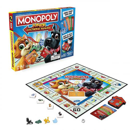 Hasbro Monopoly E1842 Настольная игра Монополия Джуниор с карточками