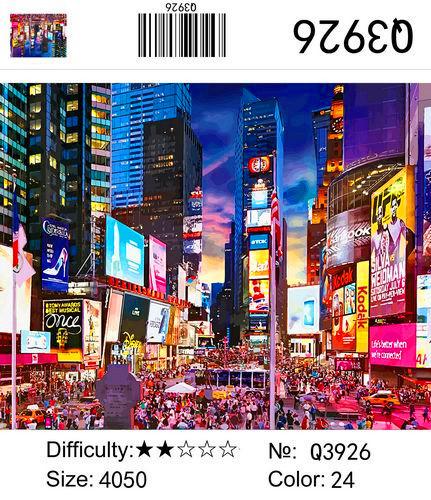 Q3926 Картины-раскраски по номерам 40х50