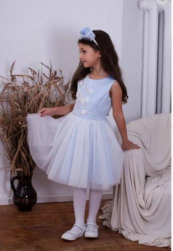 Платье для девочки Амелия А18-1 голубой