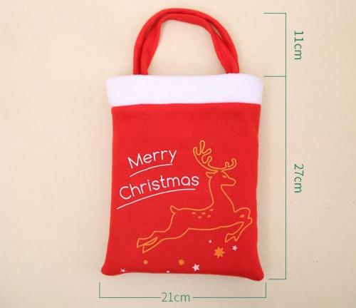 Сумка для новогодних подарков из нетканого материала с рисунком