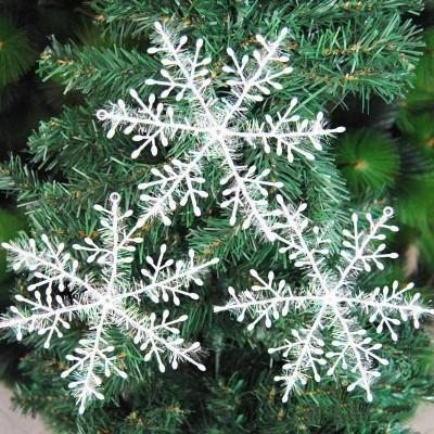 Снежинки 10 см (набор 3 шт.) белые
