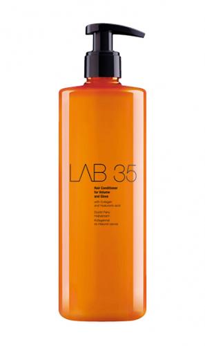 LAB Кондиционер для объема и блеска волос с Керамидами, Коллагеном , Гиалуроновой кислотой умножает массу волос, 500 ml. Без сульфатов и папрабенов.