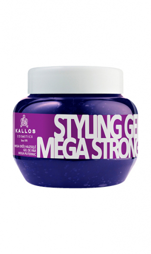 KALLOS Гель для укладки для волос мега сильной фиксации с провитамином В5, 275 ml