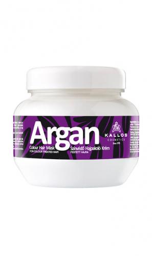 KALLOS Маска АРГАНА для поддержания яркости цвета окрашенных волос, 275 ml