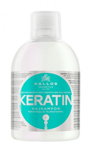 KJMN Шампунь с КЕРАТИНОМ и молочными протеинами для питания и восстановления волос , 1000 ml