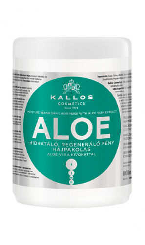 KJMN Маска для волос АЛОЭ восстанавливающая влагу и блеск, 1000 ml