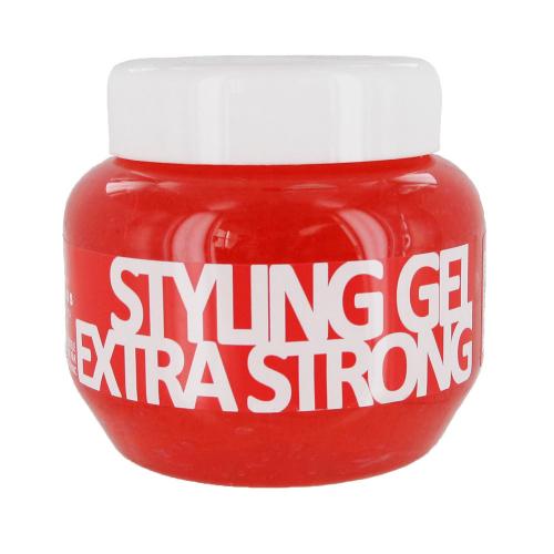 KALLOS Гель для укладки волос экстра сильной фиксациис провитамином В5, 275 ml