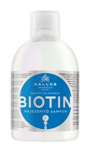 KJMN Шампунь сБИОТИНОМ против выпадения и для улучшения роста волос, 1000 ml