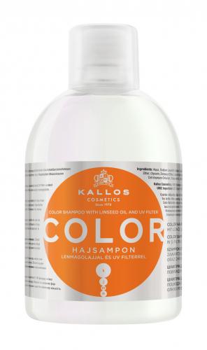 KJMN Шампунь КОЛОР с льняным маслом и УФ-фильтром для защиты цвета и питания волос, 1000 ml