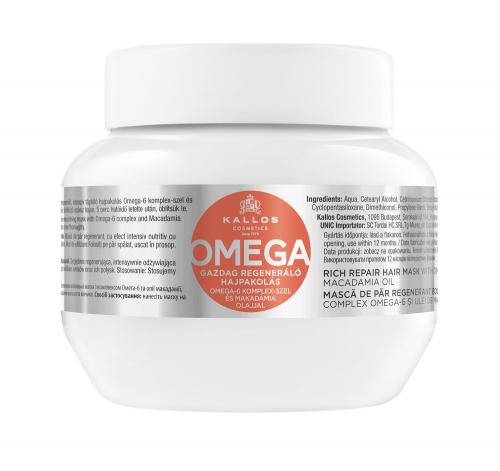 KJMN Маска для волос с ОМЕГА 6 восстанавливающая комплексом полинасыщенных жирных кислот, 275 ml
