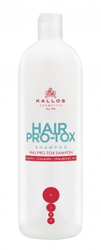 HAIR PRO-TOX Шампунь для волос с кератином коллагеном и гиалуроновой кислотой, для слабых и поврежденных волос.