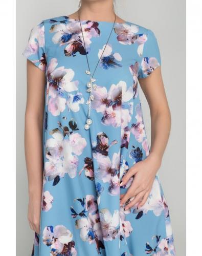 Платье 0068-02-27-03 Голубой