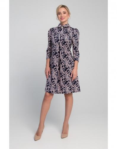 Платье 0019-01-12-01 Сине-розовый