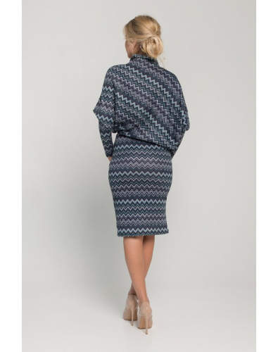 Платье 0012-02-13-19 Темно-синий