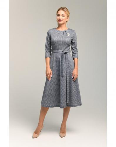 Платье 0111-01-12-07 Серо-синий