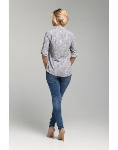 Блуза 0073-02-27-02 Серый