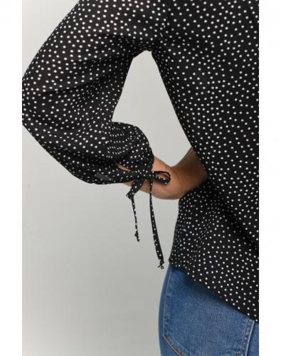 Блузка 0159-01-27-01 Черно-белый