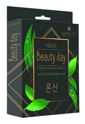 Подарочный набор SL-5136 Твой Beauty day  АЛОЭ&ЗЕЛЕНЫЙ ЧАЙ