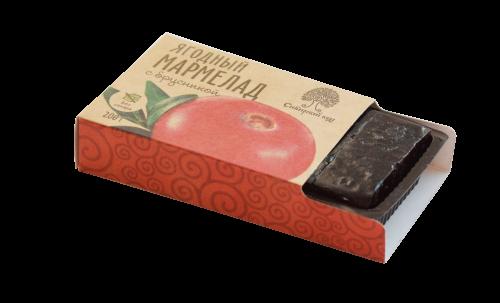 Мармелад ягодный с брусникой / брикет / 200 г