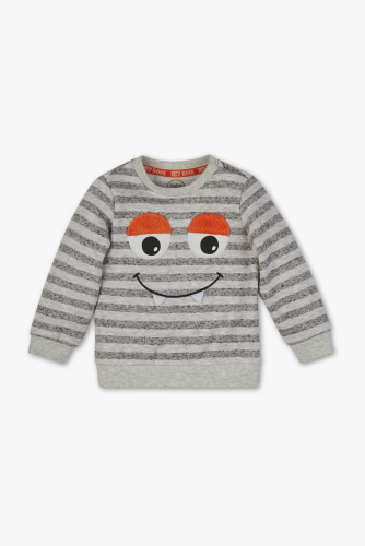Baby-Sweatshirt - gestreift