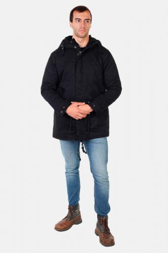 Черная мужская парка Fasion - не дай себе замерзнуть! №516