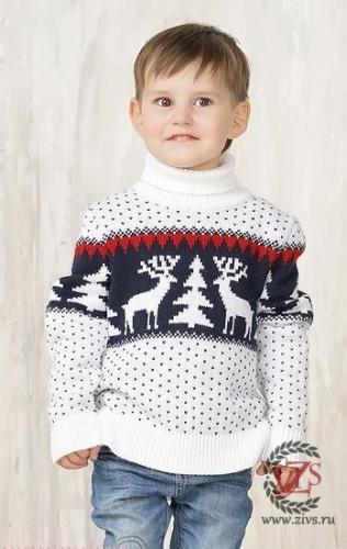 950р. 1470р. Детский свитер с оленями