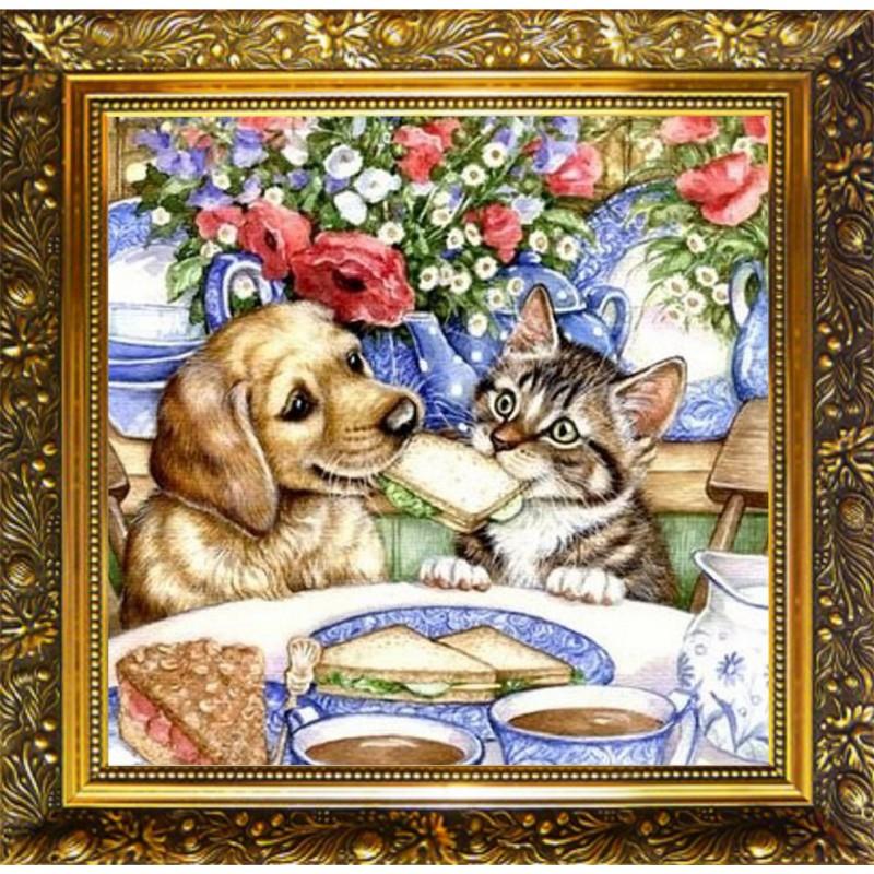 Картинки для декупажа кошки и собаки