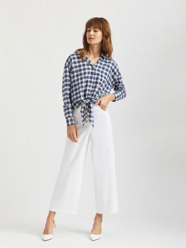 Рубашка с декоративными завязками