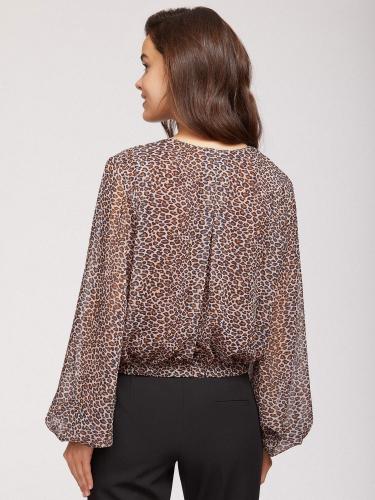 Укороченная блуза с принтом