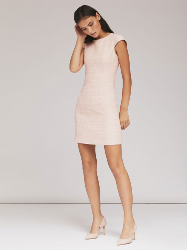 Платье-мини из фактурной ткани
