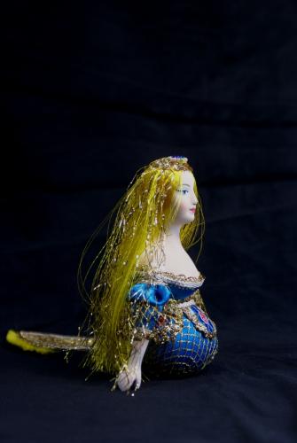Кукла сувенирная фарфоровая. Русалочка. Фольклорный персонаж.