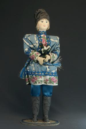 Кукла сувенирная фарфоровая. Апрель. Сказочный персонаж.