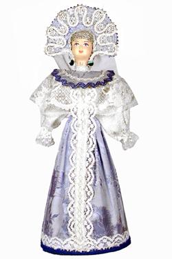 Кукла сувенирная фарфоровая. Девушка в русском костюме (стилизация).