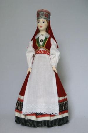 Женский эстонский костюм сер. 19в. Село Сааремаа,