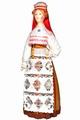 Эстонский женский костюм сер. 19в. Область: Hiiuma