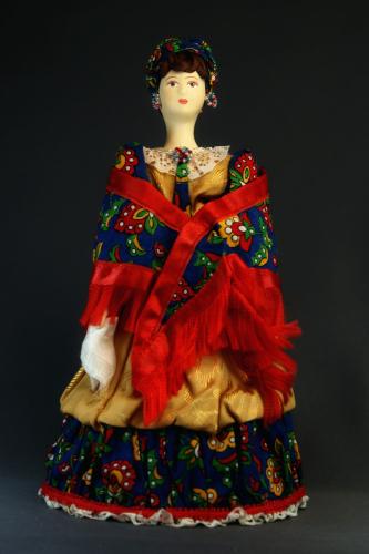 Кукла сувенирная фарфоровая. Купчиха. Кон.19-н. 20 в. Россия