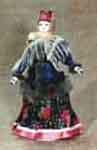 Кукла сувенирная фарфоровая. Зимний крестьянский костюм. 2-я пол.19 в. Россия.