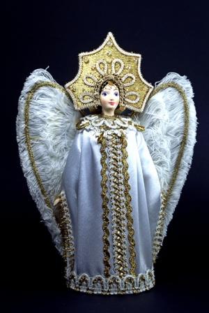 Кукла сувенирная фарфоровая. Царевна-Лебедь. Сказочный персонаж.