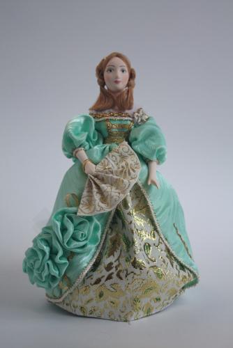 Кукла сувенирная фарфоровая. Дама в бальном платье.1830-е г. Европа