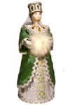 Кукла сувенирная фарфоровая. Княжна в традиционном праздничном костюме с белой муфтой. 16-17 в. Русь