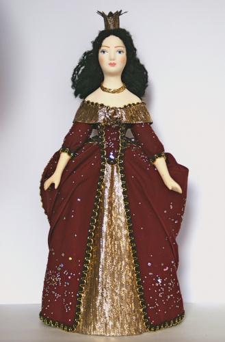 Кукла сувенирная фарфоровая. Принцесса. Сказочный персонаж.