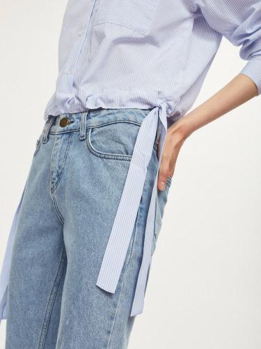 Укороченная рубашка с завязками