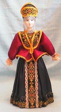 Русский народный костюм с душегреей.