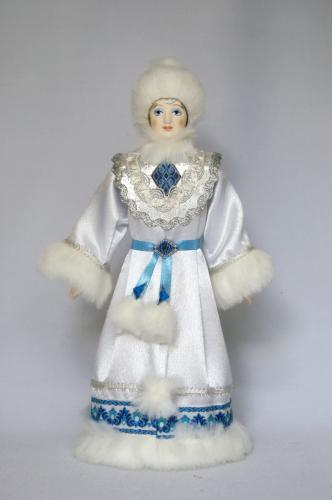 Кукла сувенирная фарфоровая. Снегурочка. Сказочный персонаж.