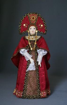 Кукла сувенирная фарфоровая. Русская красавица в традиционном праздничном одеянии