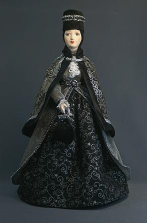 Кукла сувенирная фарфоровая. Незнакомка.