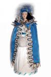 Кукла сувенирная фарфоровая. Дама в мантилье и бальном тюрбане. Нач. 19 в.