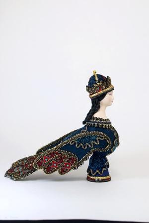 Кукла сувенирная фарфоровая. Птица Сирин. Фольклорный персонаж.