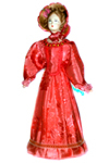 Кукла сувенирная фарфоровая. Дама в летнем костюме. Нач. 19 в. Петербург. Европейская мода.