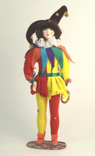 Кукла сувенирная фарфоровая. Канатоходец Тибул. Сказочный персонаж.